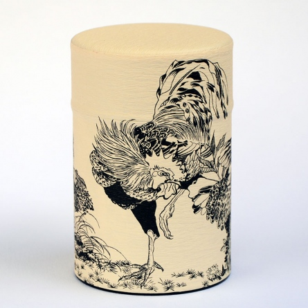 Rinpa Rooster Tea Caddy