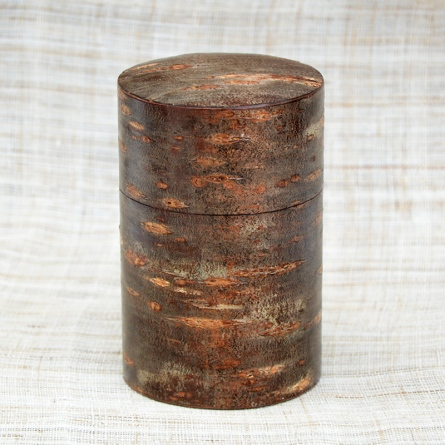 Cherry Bark Tea Caddy Shimofuri Medium