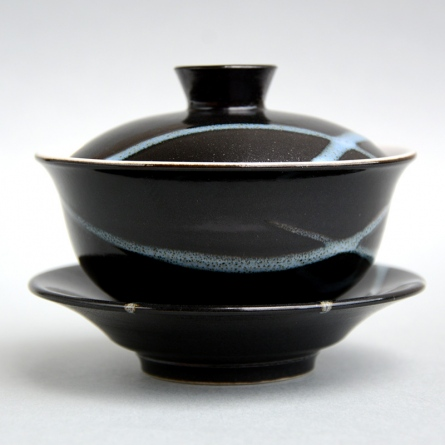 White Stripe Black Gaiwan