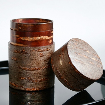 Cherry Bark Tea Caddy Shimofuri