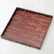 Cherry Bark Square Tray Muji